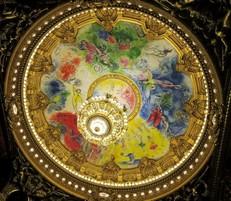 Le plafond de l'Opéra...
